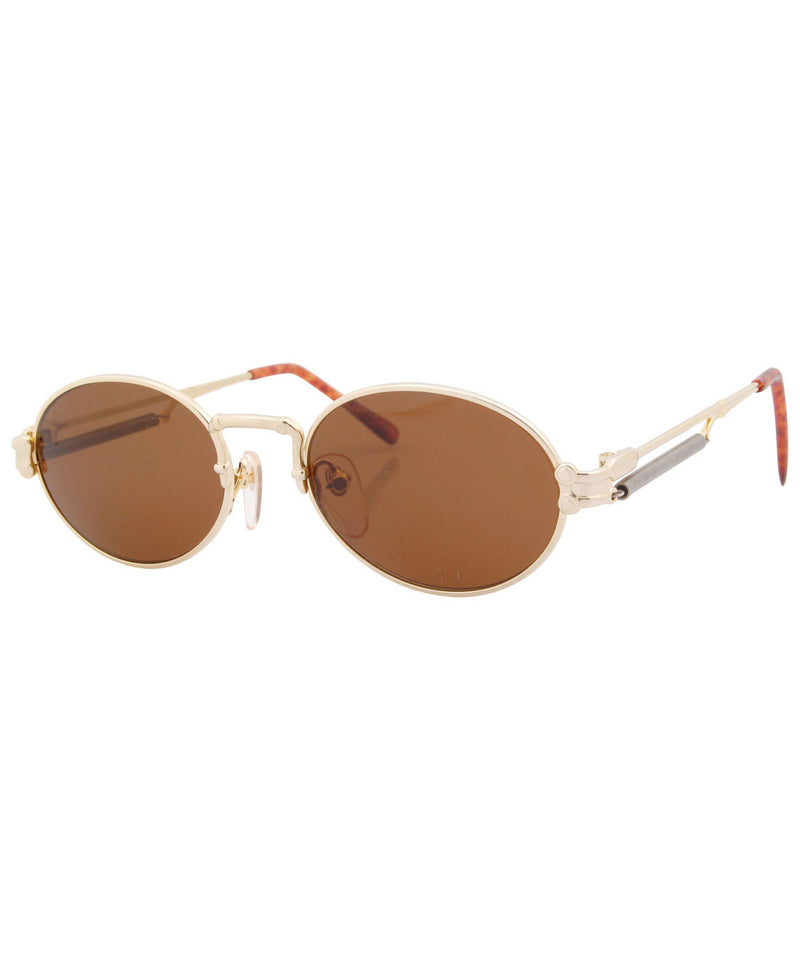crowns gold brown sunglasses