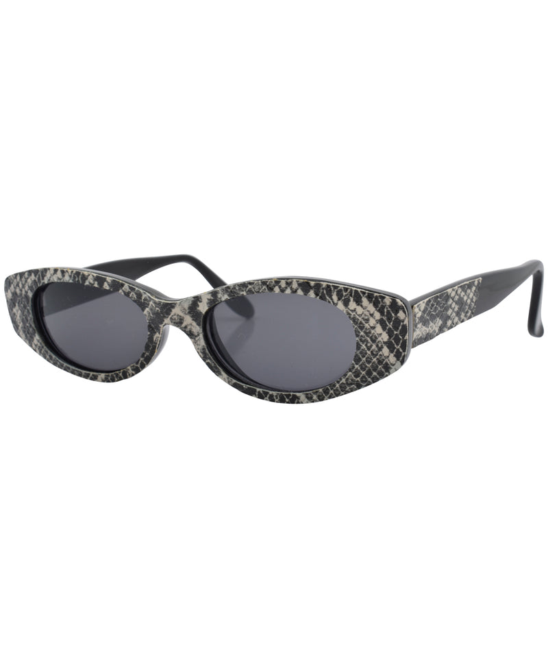 crunk black white sunglasses