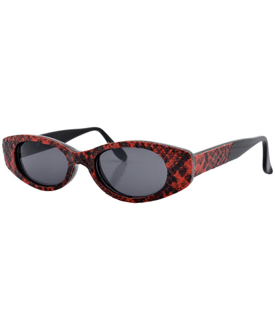 crunk red black sunglasses