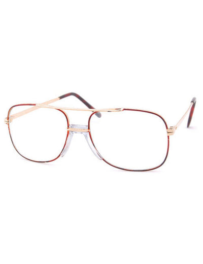 dash copper clear sunglasses