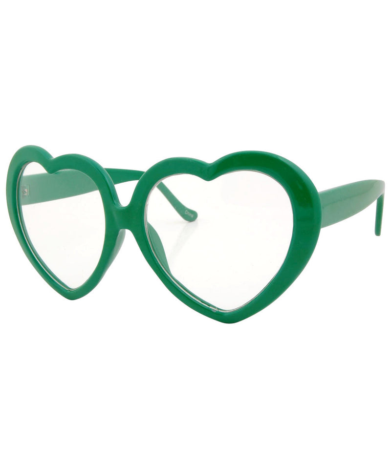 deeply green sunglasses