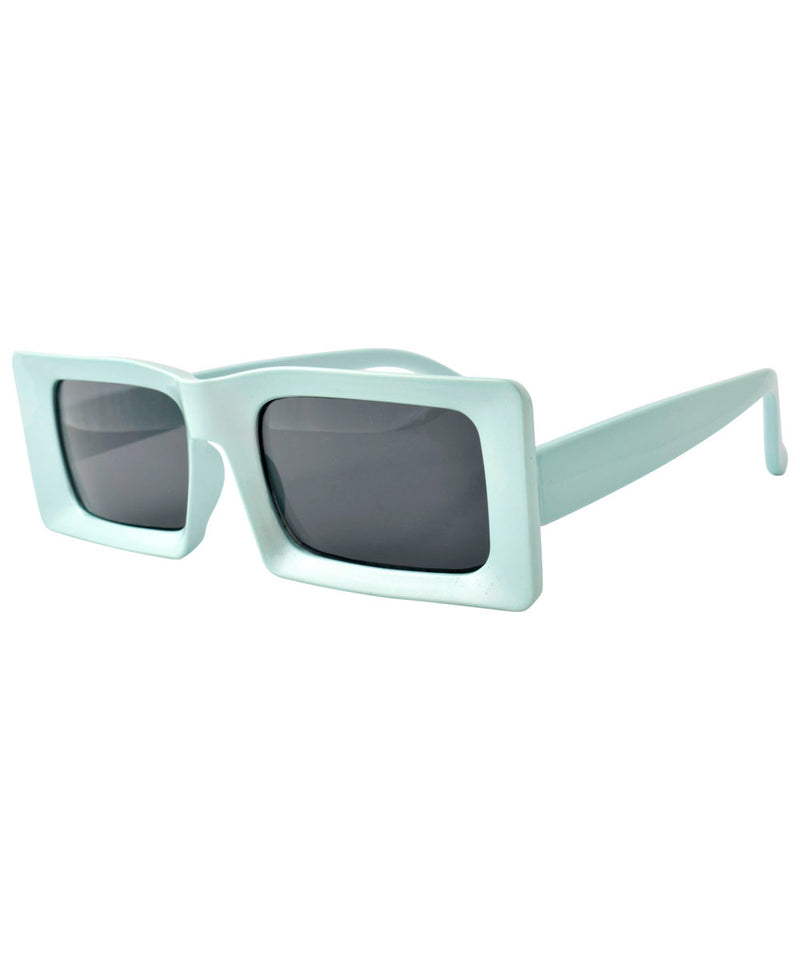 DEUCE Blue Mod Square Sunglasses