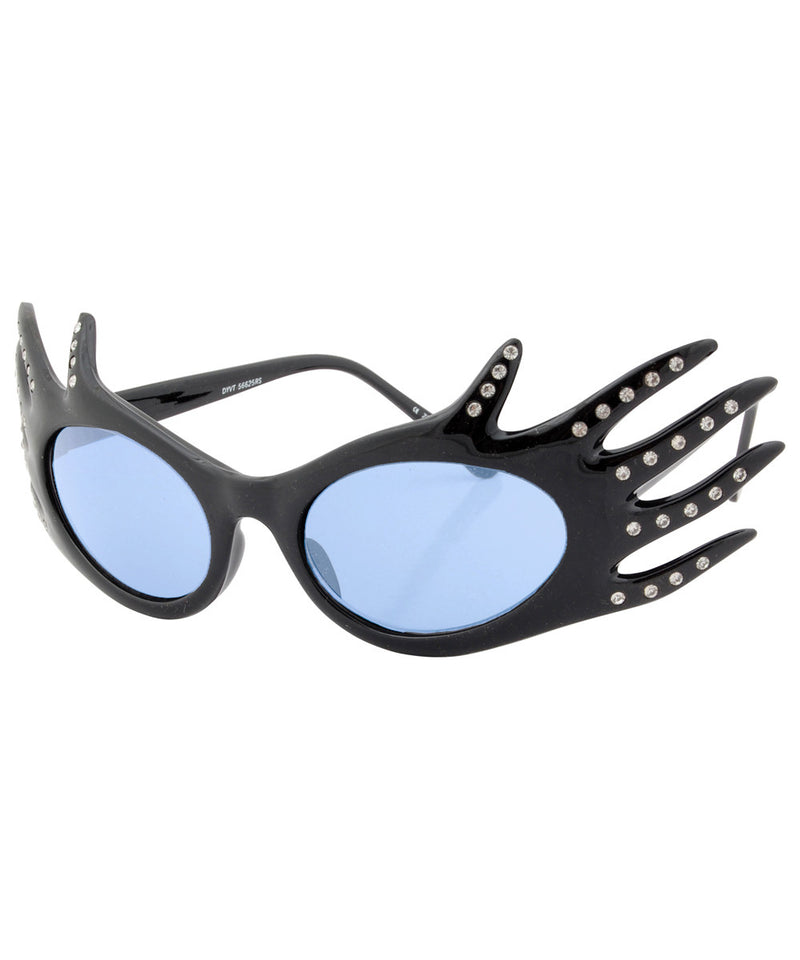 divine black blue sunglasses
