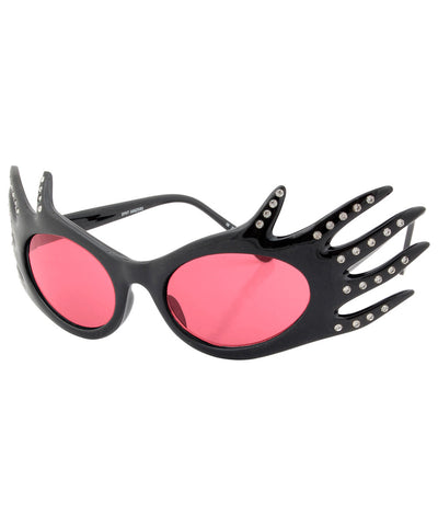 divine black pink sunglasses