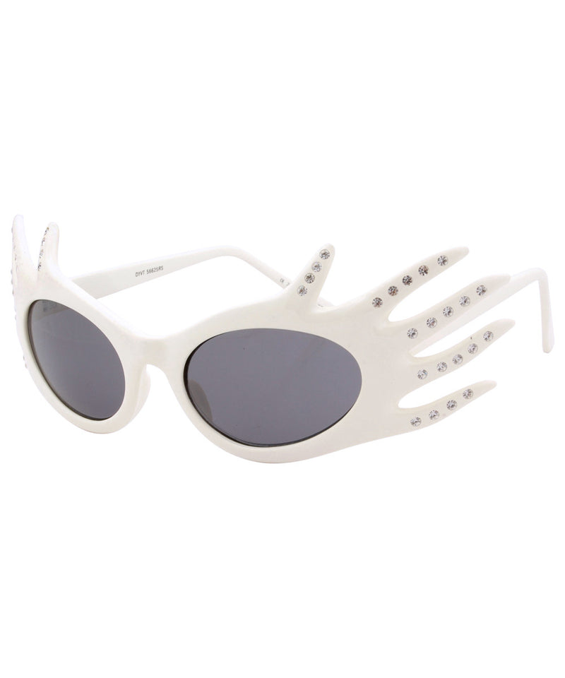 divine white sunglasses
