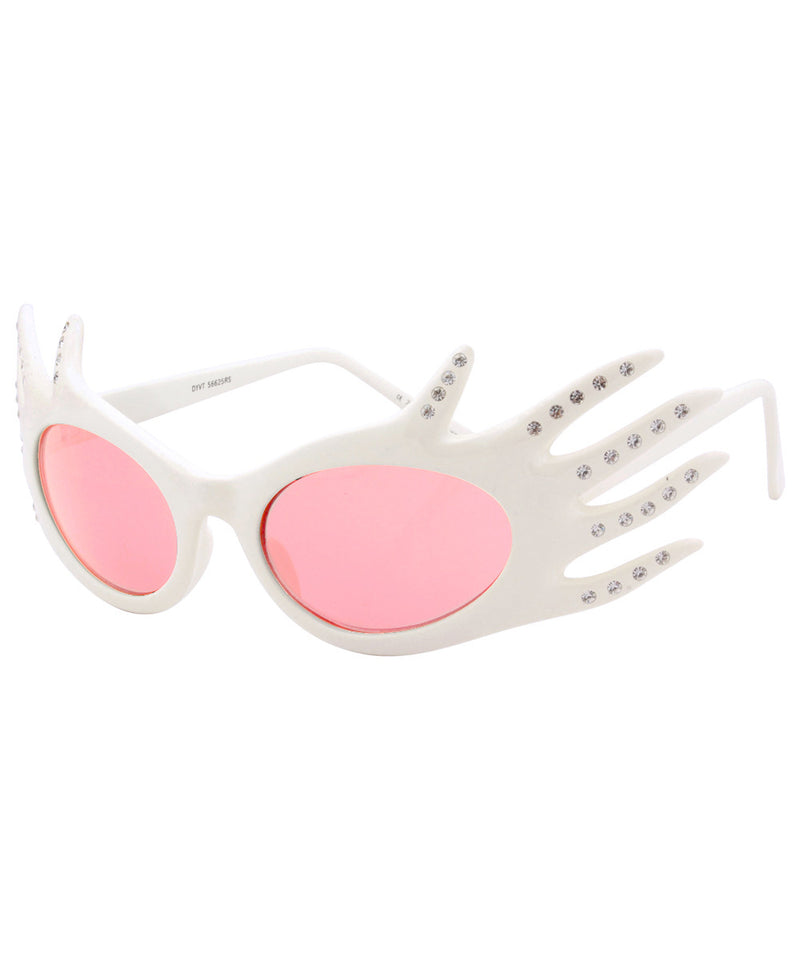 divine white pink sunglasses