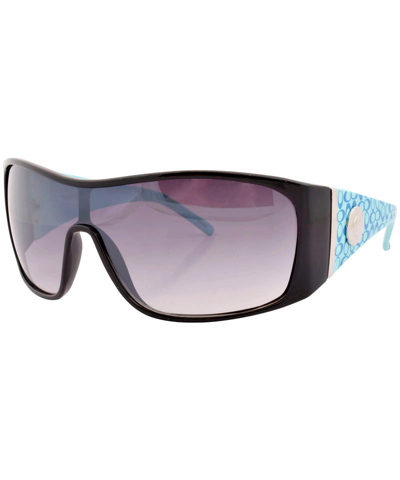 dizzy black blue sunglasses