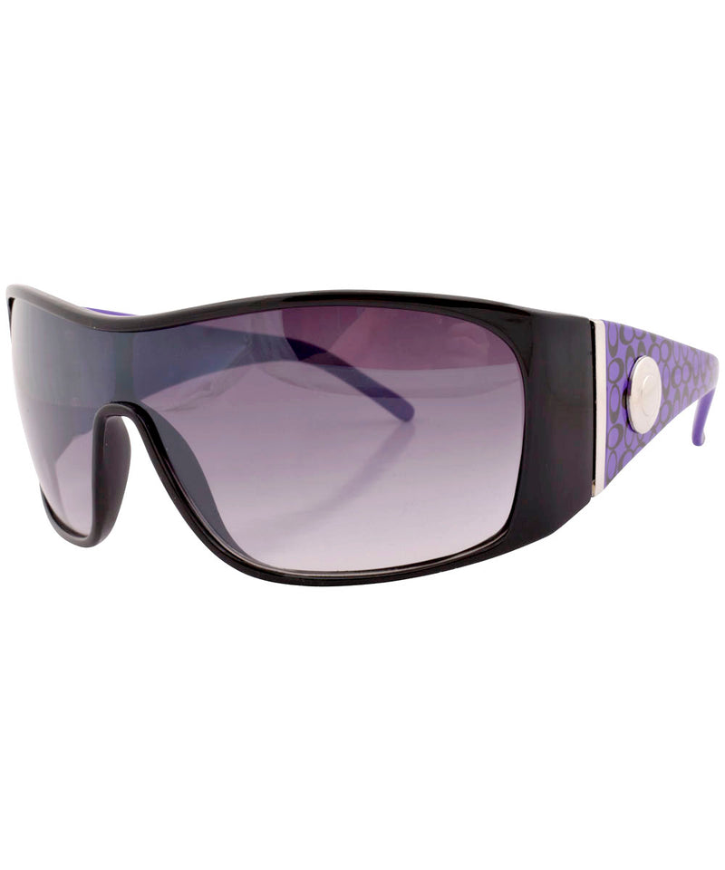 dizzy black purple sunglasses