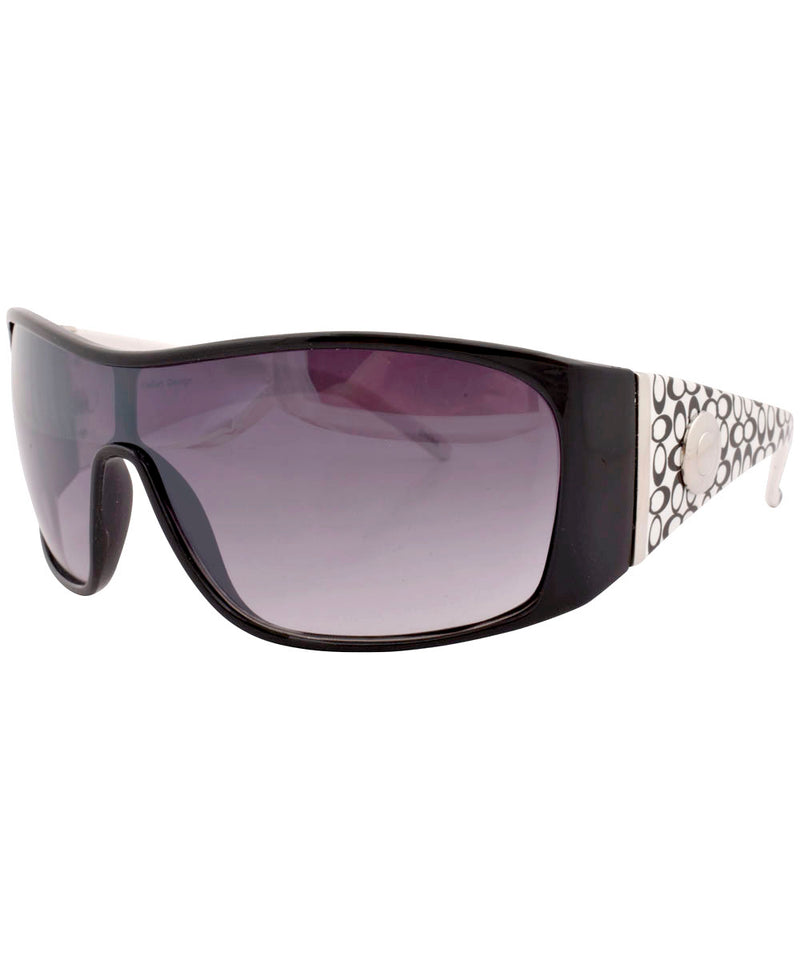 dizzy black white sunglasses