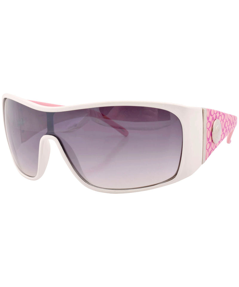 dizzy white pink sunglasses