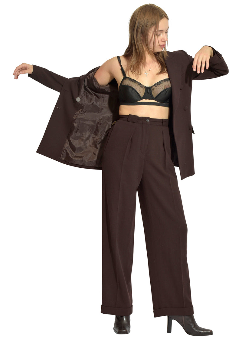 DKNY Chocolate Office Two-Piece