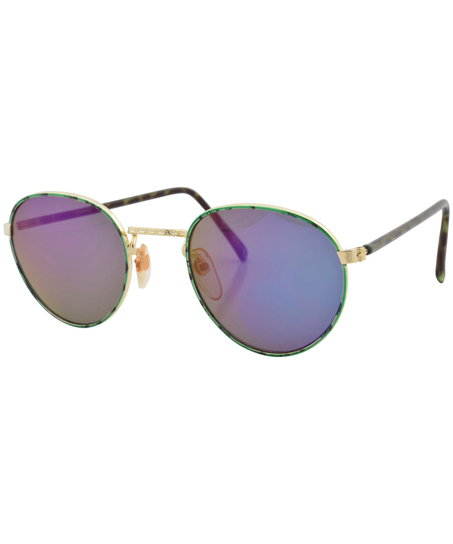 donny gold green sunglasses