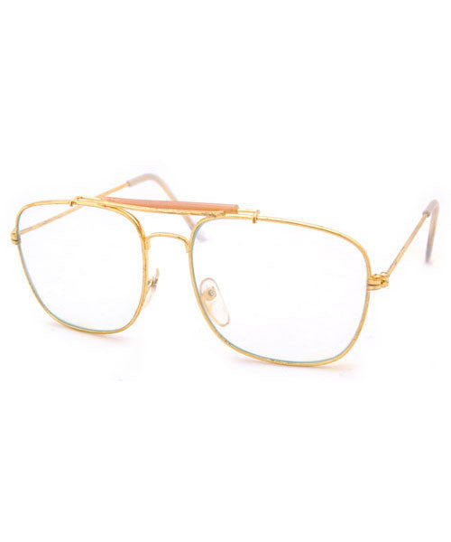 dr simon gold clear sunglasses