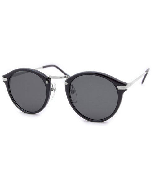 durham black silver sunglasses