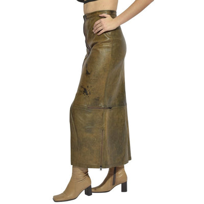 Lot 78 Nascar Double Zipper True Leather Skirt