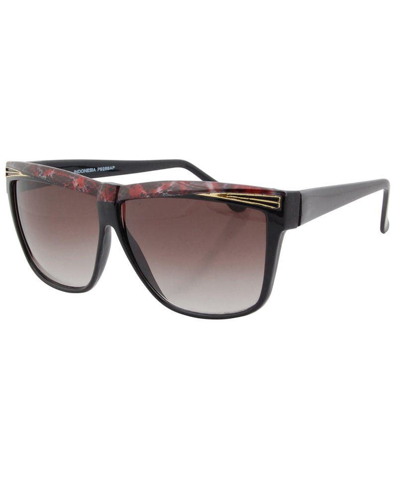 eldorado black red sunglasses