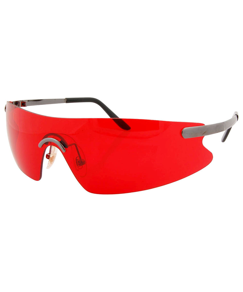 elegante red sunglasses