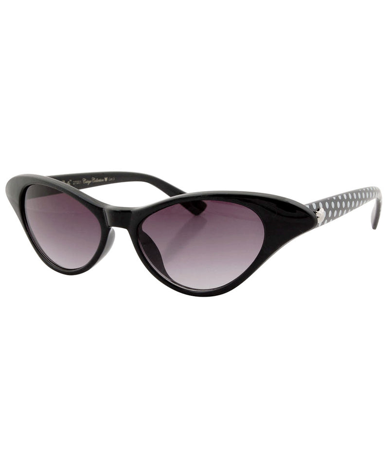 elodie black polka sunglasses