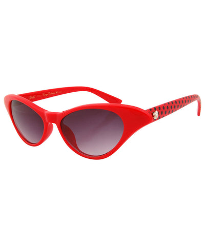 elodie red polka sunglasses