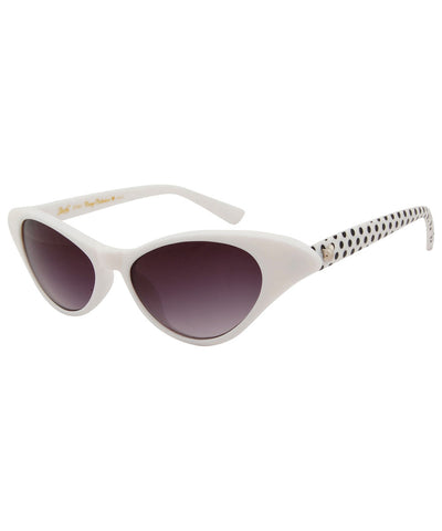 elodie white polka sunglasses