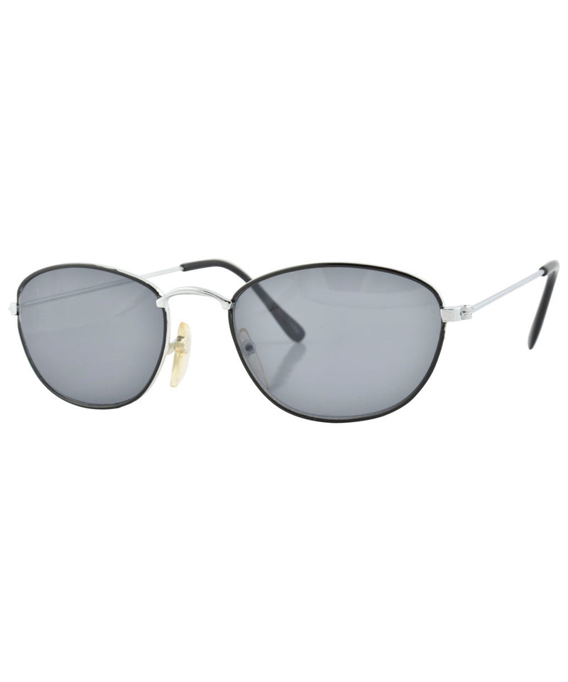 emerge black silver sunglasses