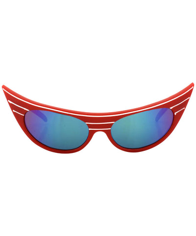 exciter red aqua sunglasses