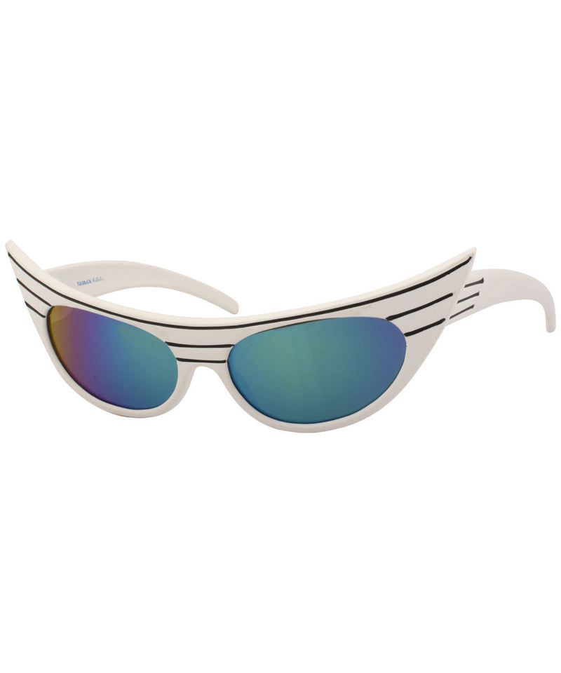 exciter white aqua sunglasses