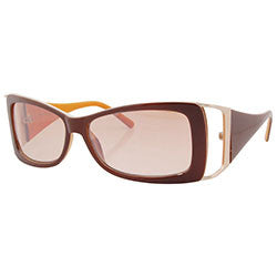 fash on brown orange sunglasses