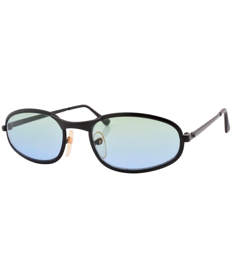 fate black aqua sunglasses