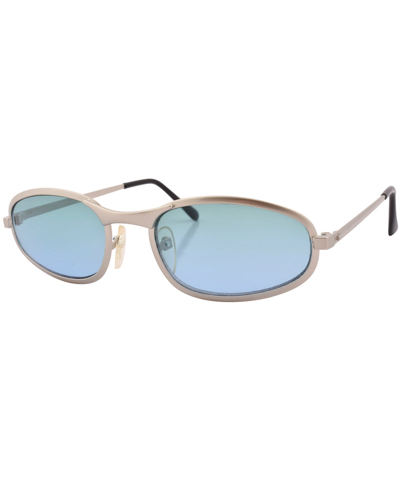 fate silver aqua sunglasses