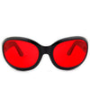 fifty seven black red sunglasses
