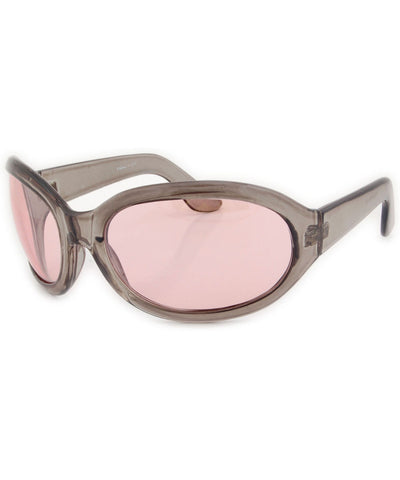 fifty seven smoke pink sunglasses