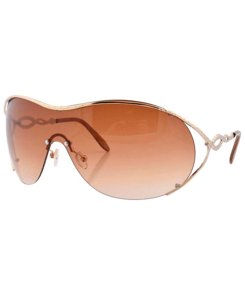 flavor gold brown sunglasses