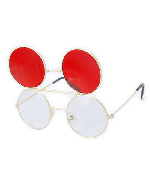 flip co red gold sunglasses