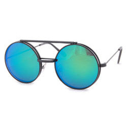 flip sea black aqua sunglasses