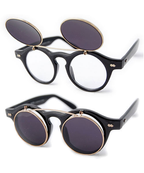FLIPPO Black Flip-Up Sunglasses