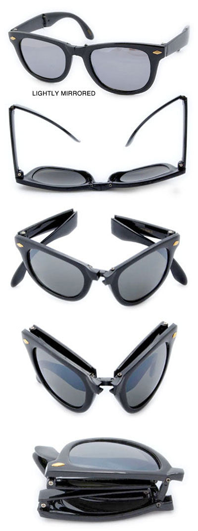 folding wf black sunglasses