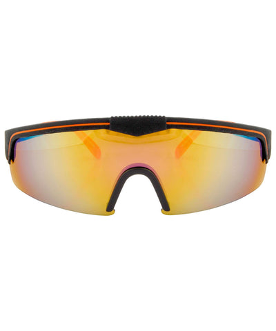 fontaine black orange sunglasses