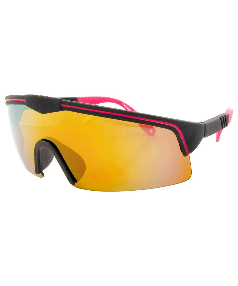 FONTAINE Black/Pink Shield Sunglasses