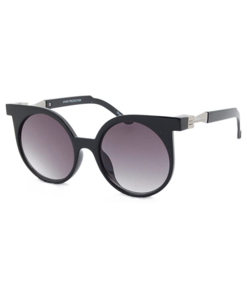 frannie black silver sunglasses