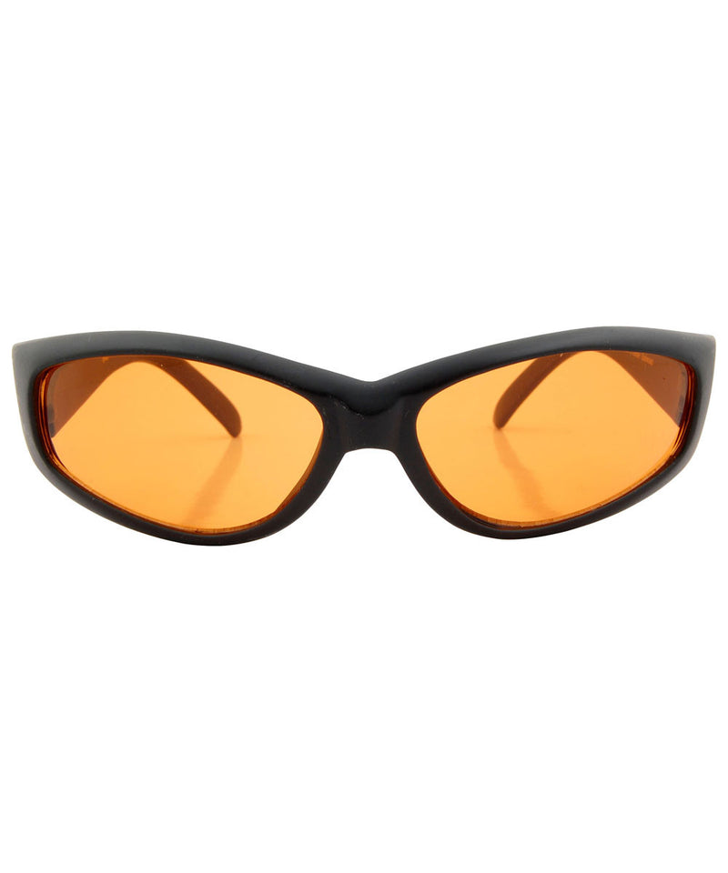 fumes black orange sunglasses