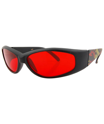 fumes black red sunglasses