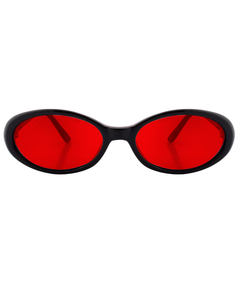 funked black red sunglasses