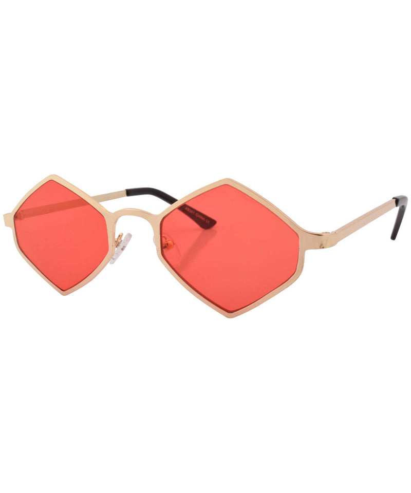 gaily red gold sunglasses