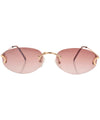 gianni gold brown sunglasses