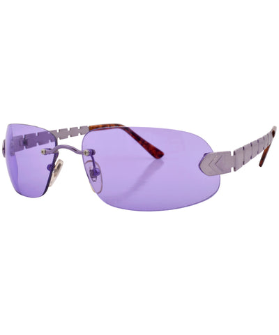 glossy purple sunglasses