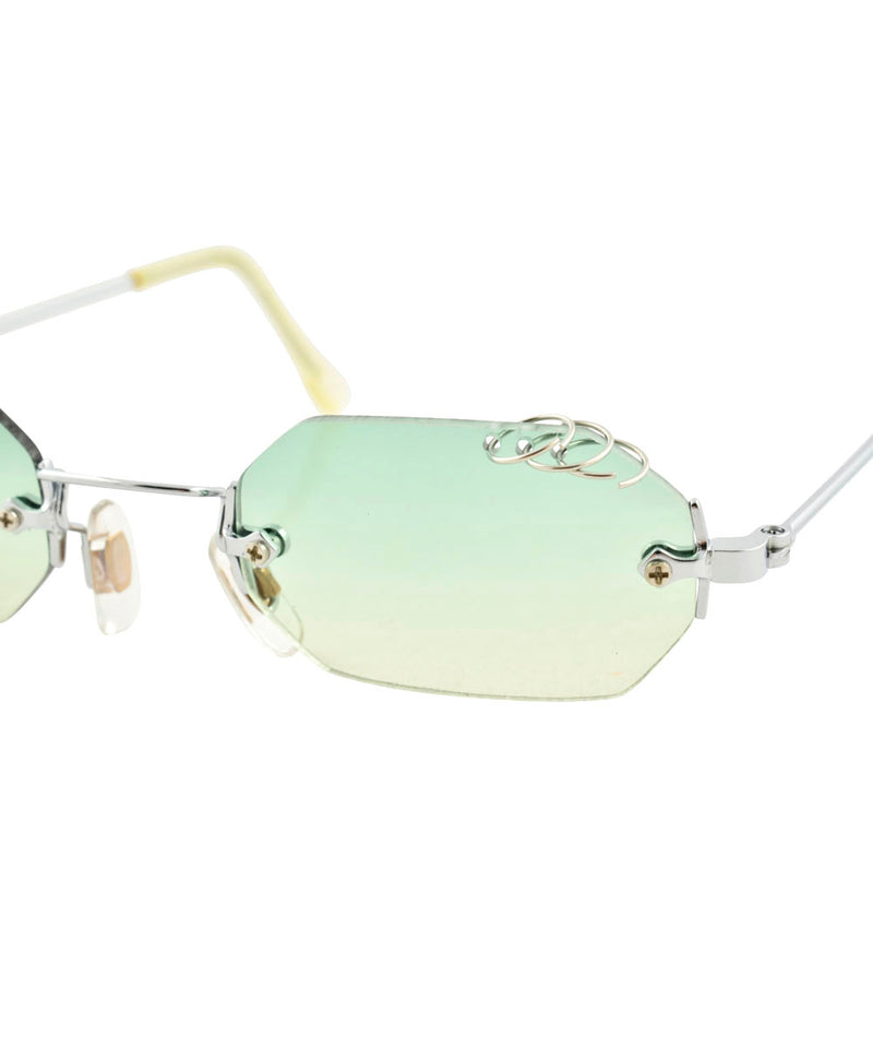 GNARLY Green/Yellow Pierced Sunglasses