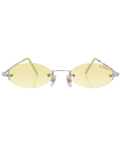 GNARLY Yellow Rimless 2000s Sunglasses