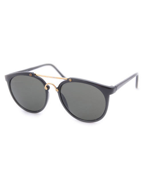 go getter black gold sunglasses
