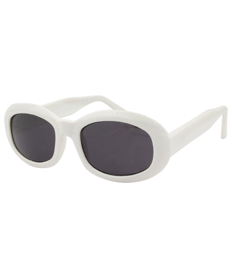 go go white sunglasses